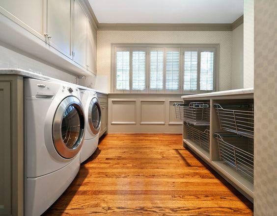 Gray/white laundry room idea!