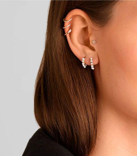 Maria Tash 6.5mm 18-Karat Rose Gold Pearl Earring