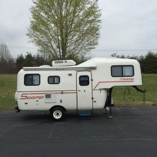 1997 Scamp 19 Fifth Wheel Travel Trailer Camper Bathroom