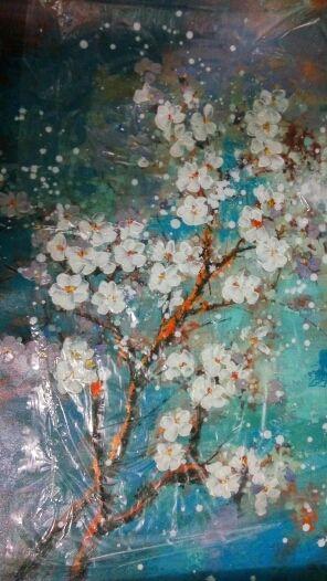 Wohnzimmer Deko wohnzimmer deko online shop : Online-Shop Handgemaltes Modernes Abstraktes Blumenleinwandkunst ...