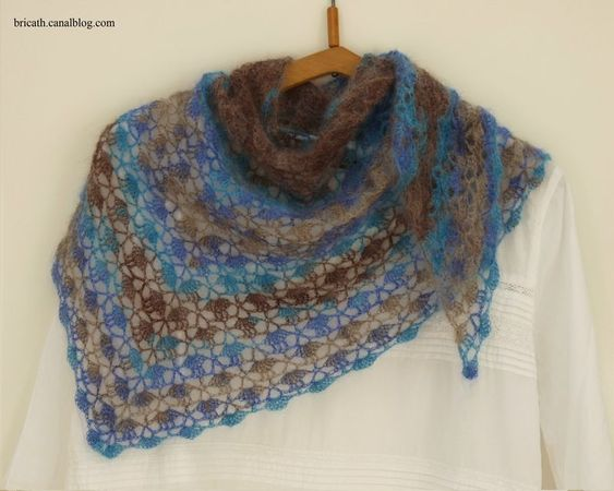 Mon South Bay Shawlette, enfin !