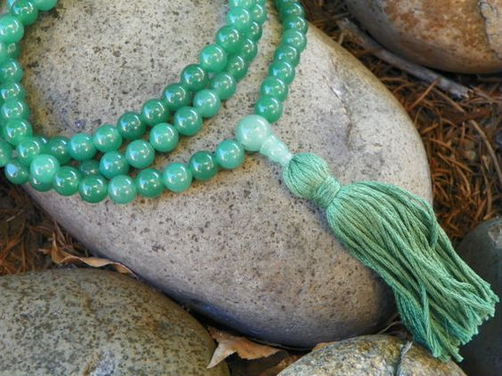 Hey, I found this really awesome Etsy listing at https://www.etsy.com/listing/100059764/mala-necklace-green-aventurine-full-mala