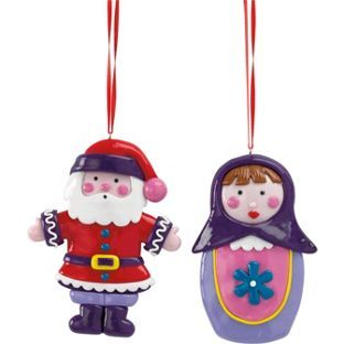 Assorted Claydough Santa And Russian Doll from Homebase.co.uk