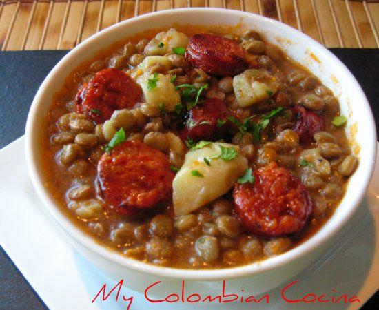 Cazuela de Lentejas y Chorizo.