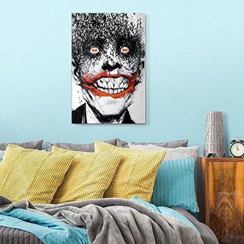 Joker Canvas Wall Art Joker Bats Geeknolia Canvas Wall Art Joker Canvas Wall Art