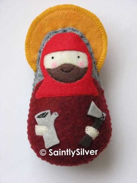 Saint Alexander of Comana Felt Saint Softie by SaintlySilver