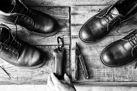 Leatherman x BROKEN HOMME Footwear Collection.