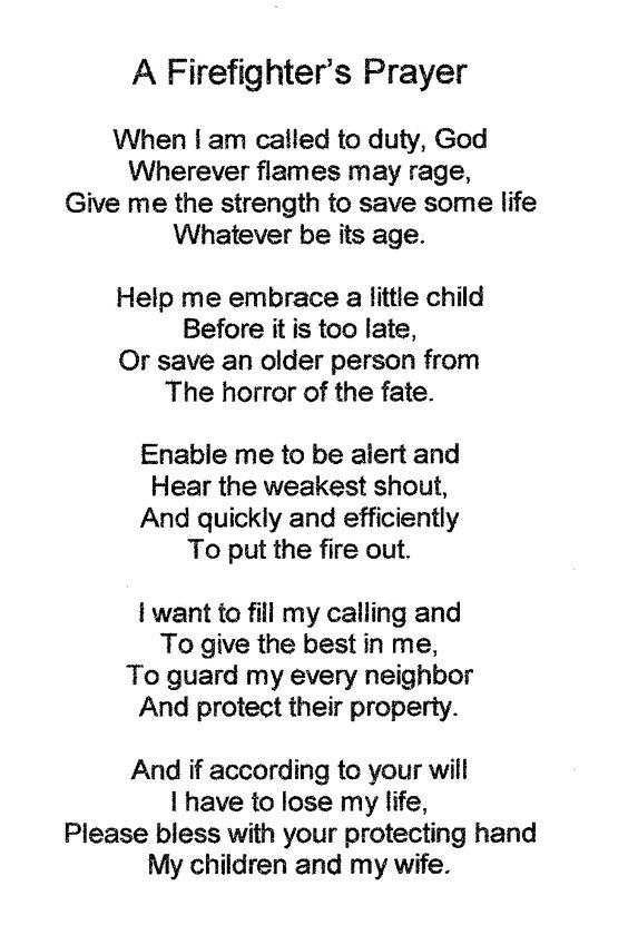 a-firefighters-prayer.bmp (930×1386) | Picture This | Pinterest ...