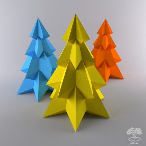 Pine Christmas Tree Make Your Own Paper Tree Papercraft Pintable Instant Download Pdf Template Paper Crafts Pine Christmas Tree Paper Sculpture