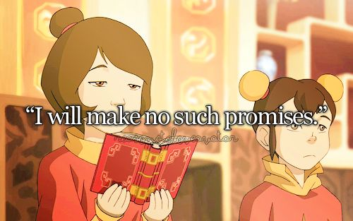 "Jinora. please tell me you won't be that way when you're older. ""I will make no such promises."""