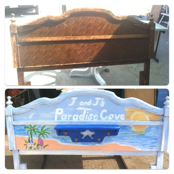 Pool Towel Sign With Hooks: This Is My First Pin That I Made : ) Make A Headboard Into