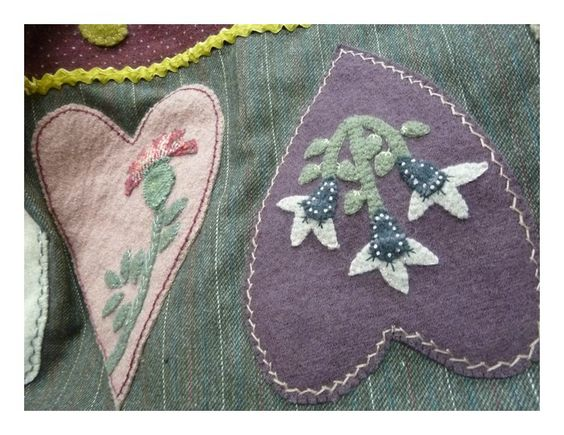 Detail of Heart quilt shown in Woolwork