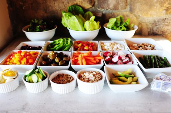 This chopped salad post from PW (and this picture in particular) made me think how fun it would be to have a salad bar for dinner one night, where the kids can make and mix their own salads with a ton of topping choices. Do this. So yummy, healthy and FUN, too!