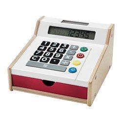 Cash register for shopping play: