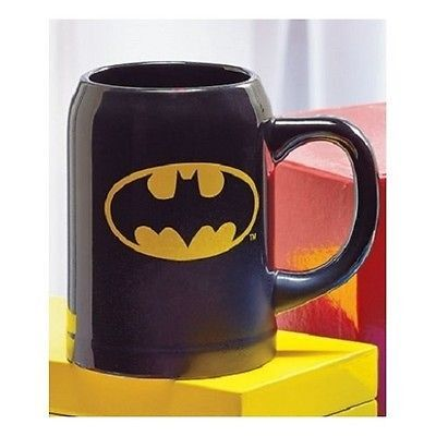 Batman Coffee Mug Logo Oversize Large 22oz Stoneware Caped Crusader DC Comics