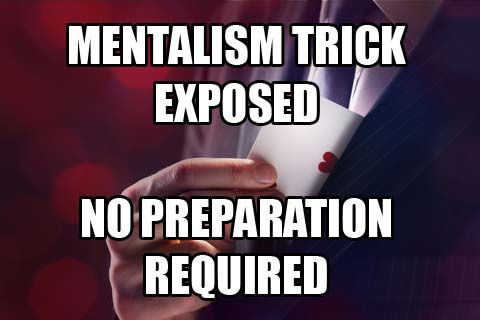 3 Mind Reading Tricks Revealed Mind Reading Tricks Magic Tricks Revealed How To Better Yourself