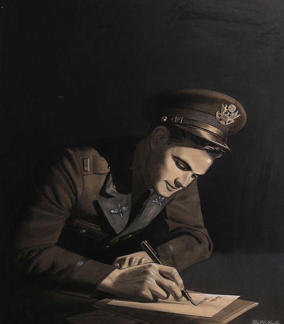 Original 1940s WWII Original Illustration Art Soldier Writing Letter Painting https://t.co/yyorIQ2cPB https://t.co/iQo8tDqxEF