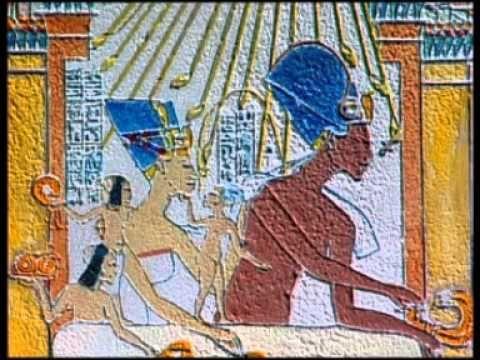"""""""Akhetaton, la cité perdue"""" - Les merveilles de l'Égypte antique 1/3 - Documentaire sur l'ancienne cité fondée en l'honneur du dieu solaire Aton, vers 1353 avant notre ère, par Akhénaton, dixième pharaon de la XVIIIe dynastie, qui régna approximativement de -1355 à -1338. Aujourd'hui dénommée Tell el-Amarna, la cité d'Akhetaton, nom signifiant """"horizon d'Aton"""", fut la capitale éphémère de l'Égypte antique durant une période d'environ 20 ans, avant d'être définitivement abandonnée."""