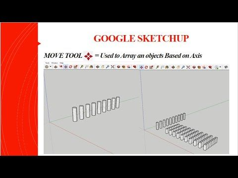 Google Sketchup Tamil தம ழ Move Tool Array An Object