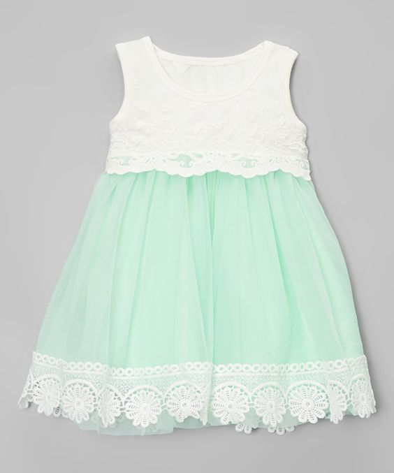 Another great find on #zulily! Mint Vintage Lace Tank Dress - Infant & Toddler by Chicaboo #zulilyfinds: