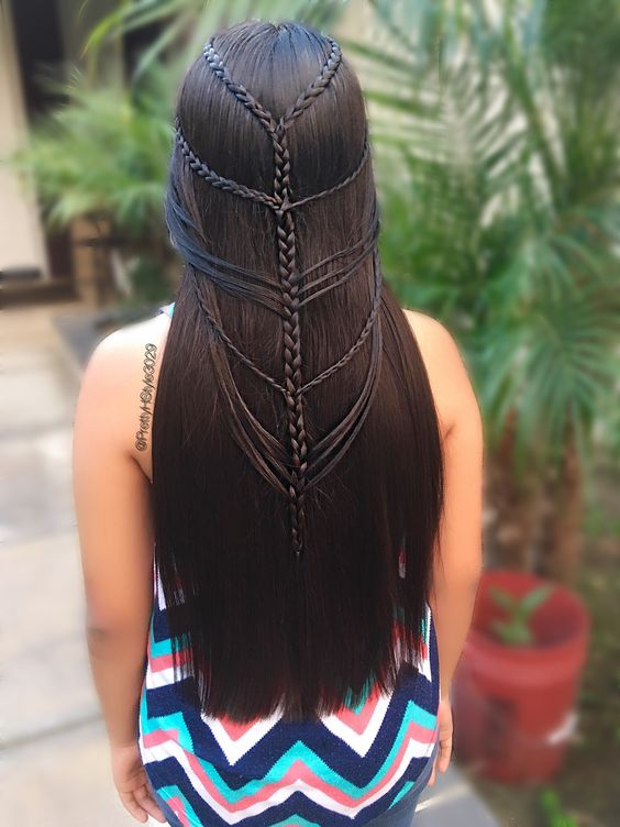 By @PrettyHStyle3029 #braids #trenzas #hairstyle #hair #microbraids #peinado #longhair