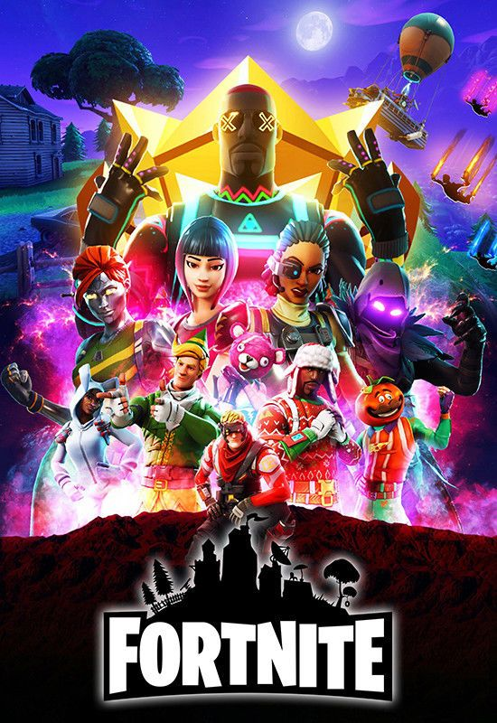 Fortnite Game Infinity War Movie Style Design Poster High Quality