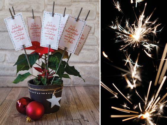 Kerzen & Beleuchtung - Wunderkerzen Label   Weihnachten   PDF Printable - ein Designerstück von Creative-Material bei DaWanda
