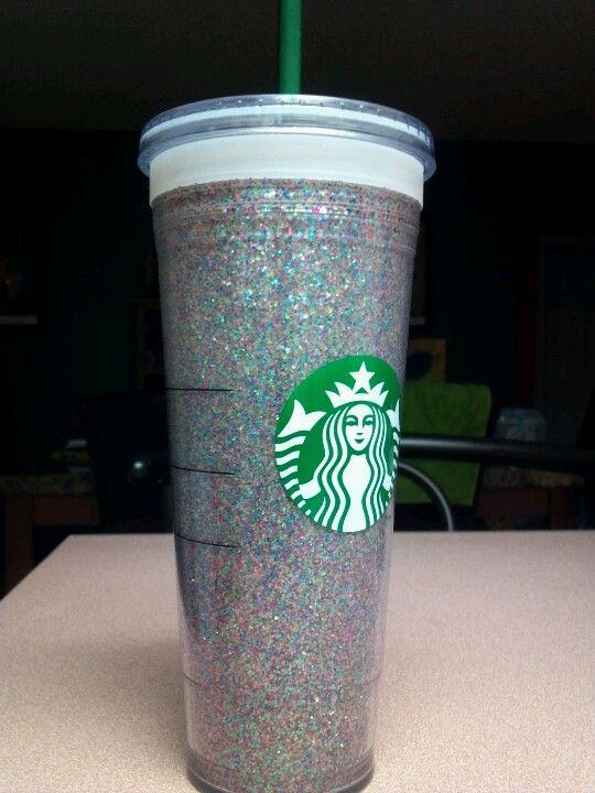Diy Glitter Starbucks Tumbler Diy Pinterest Glitter