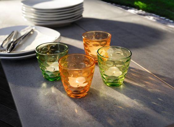 """Glas-Windlicht """"Tupfen"""", 4er Set"""
