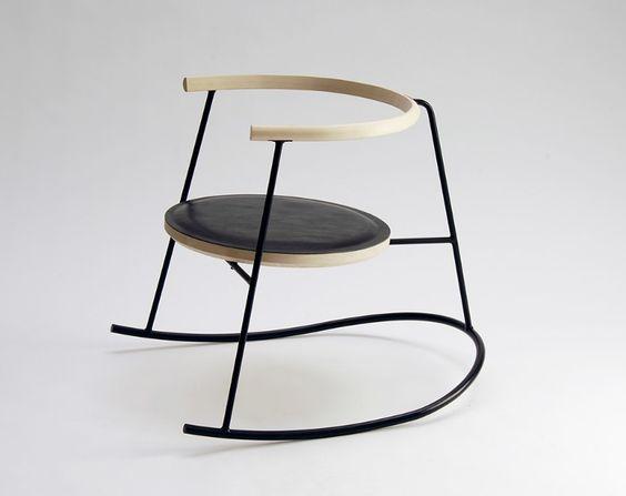mobilier design chaise bascule danoise