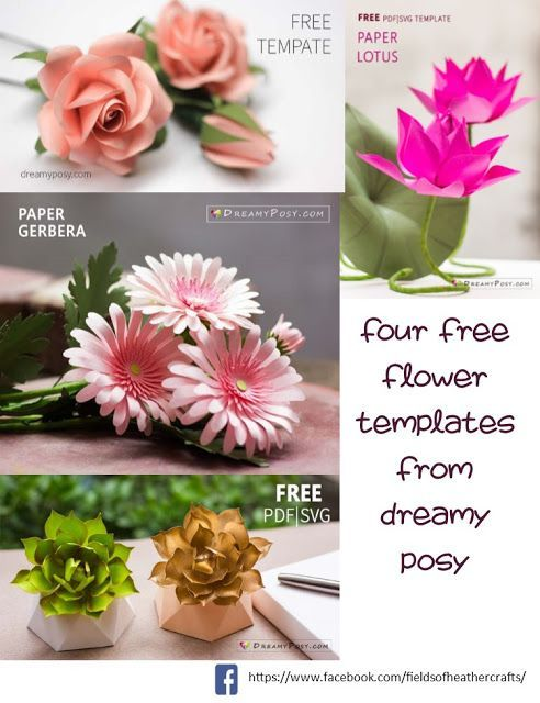 Fields Of Heather Free Templates Tutorials For Making Rolled Other Small Paper Flowers Flower Template Paper Flowers Paper Flower Tutorial