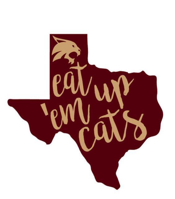 Texas State Bobcat Decal  Yeti Decal Yeti Cooler by CircleLDesigns