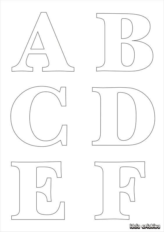 Molde de letras para imprimir alfabeto completo fonte - Fuente letra infantil ...