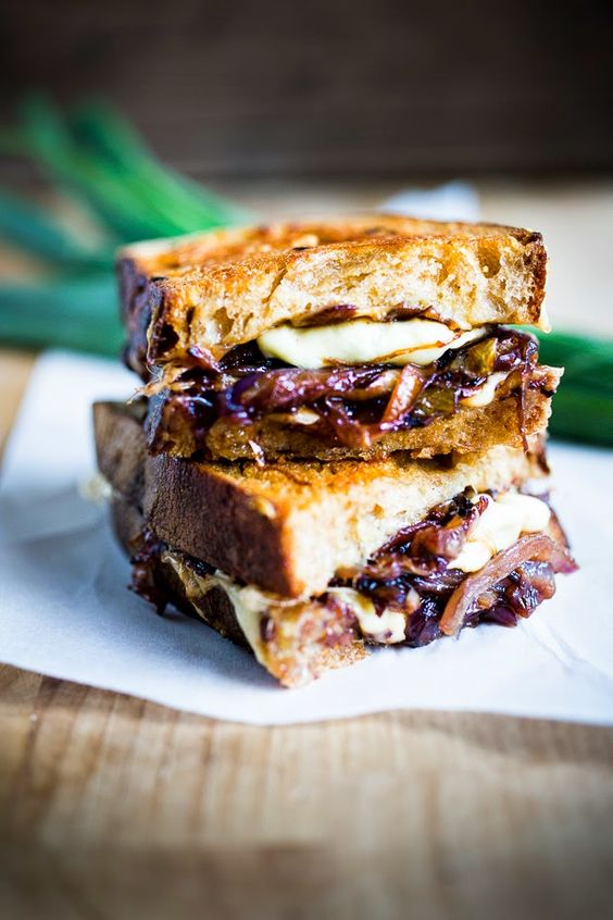 Onion Grilled Cheese Sandwich | Recipe | Grilled Cheeses, Grilled ...