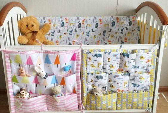 Bolsas Para Cuna Bebeazul Top Baby Cot Bedding Crib Organizers Baby Bed