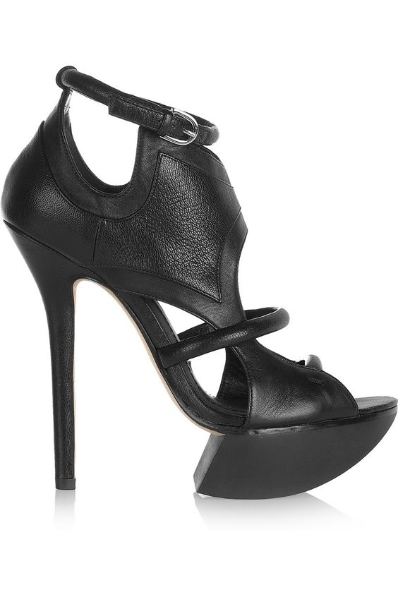Camilla Skovgaard Cutout leather platform sandals - 65% Off Now at THE OUTNET