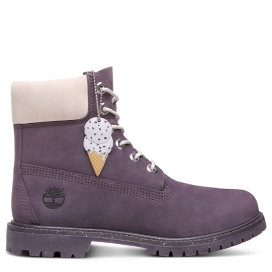 Ice Cream 6 Inch Premium Boot for Women in Purple
