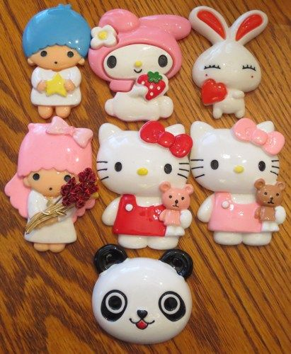 This is a listing for (1) YOU choose Cabochon Id Badge Reel Holder to be handmade by me, EvezBeadz.  You may choose from Hello Kitty in Pink with Teddy, Hello Kitty in Red with Teddy Twin Stars - KiKi