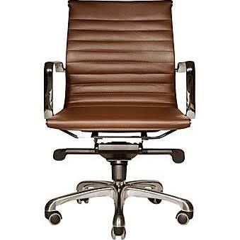 lowback brown leather office chair - Google Search