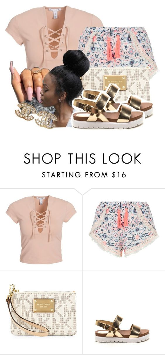 """""""I Could take away you're fears away"""" by thatgurlcandii ❤ liked on Polyvore featuring beauty, NLY Trend, New Look, MICHAEL Michael Kors and Chanel"""