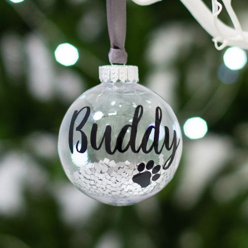 Personalised Pet Dog Christmas Bauble Tree Decoration Memorial Ornament