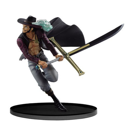 One Piece Anime Roronoa Zoro Dracule Mihawk Hawk Eyes Action Figure Toy 20cm