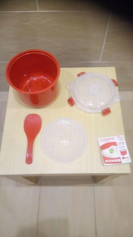 used sistema microwave rice steamer 2