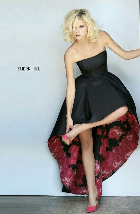 Vestido Asimétrico fondo floreado