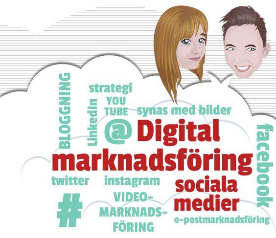 Utbildning digital marknadsföring och sociala medier: