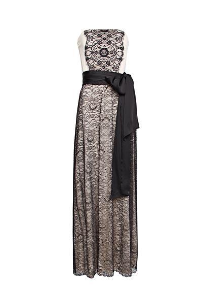 MANGO - Robe longue dentelle