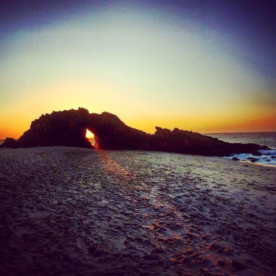 Pedra furada / Jericoacoara Brazil Ceará Fortaleza sunset