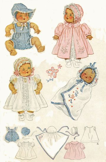 Vintage Baby Doll Clothing Pattern Vintage Children