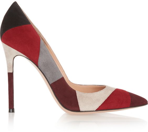 Gianvito Rossi Patchwork Suede Pumps スエード・パッチワーク・パンプス on ShopStyle