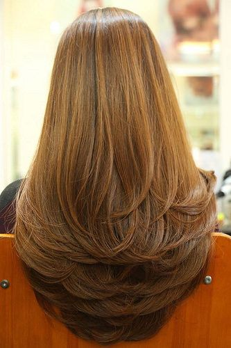 long hair layers, Long Straight Hair with Swoopy Long Embracing Layers